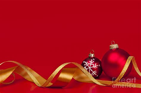 gold  red christmas decorations photograph  elena