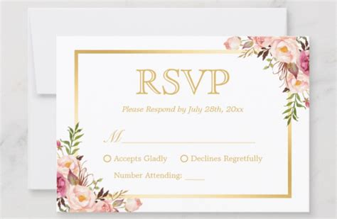 Wedding RSVP Wording Guide 2019 Online Traditional