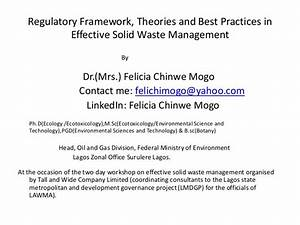 Best Practices for Solid Wastes Management