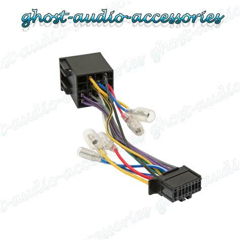 Pioneer Car Radio Wiring by Pioneer 16 Pin Iso Wiring Harness Connector Adaptor Car