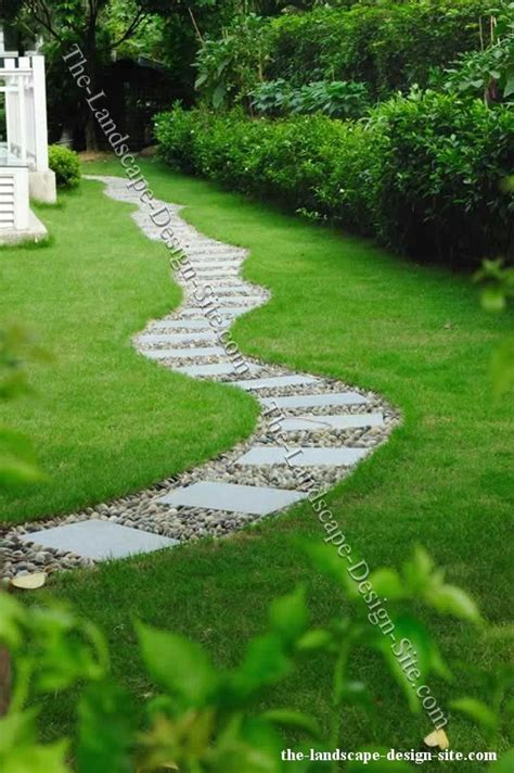 step stones and gravel landscape path lovely but it makes