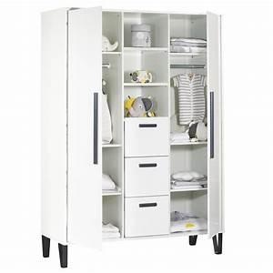 Armoire De Bébé : armoire chambre b b graphite de sauthon meubles sur allob b ~ Melissatoandfro.com Idées de Décoration