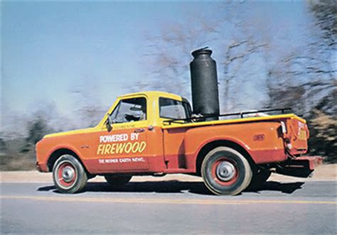 wood gas truck road power  wood gasification green transportation mother earth news