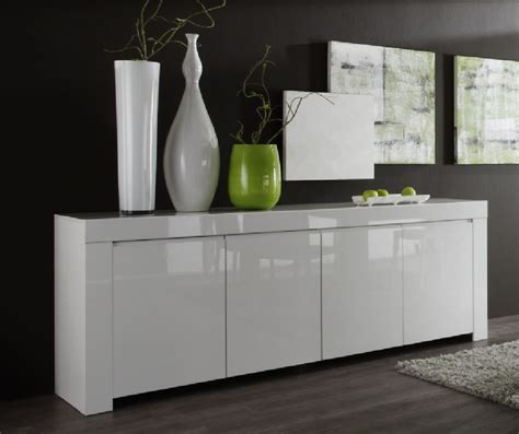 Gloss Sideboard by Rimini Collection Four Door Sideboard White Gloss