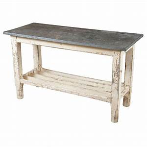 Zinc Top Work Table at 1stdibs
