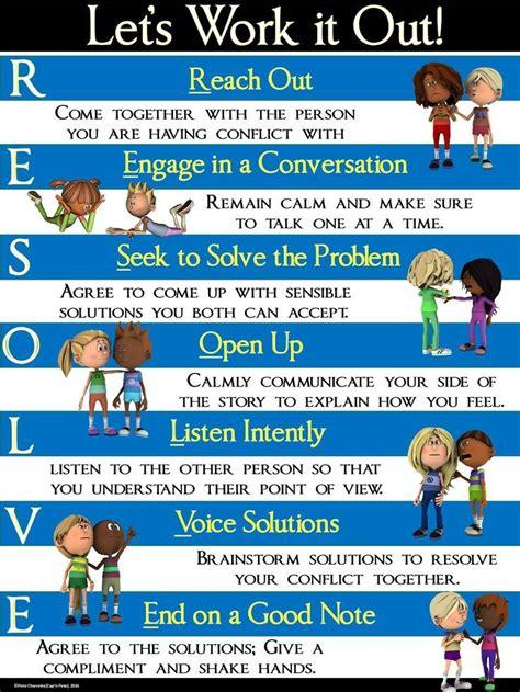 conflict resolution poster resolve lets work
