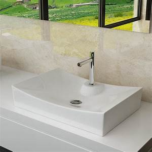 Waschbecken Auf Tisch : design keramik waschschale aufsatz waschbecken tisch ~ Michelbontemps.com Haus und Dekorationen