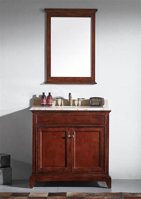 solid wood bathroom vanity eviva evvn709 36tk elite stamford 36 inch brown solid wood