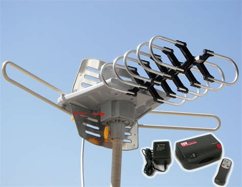 Digital Power Amplified Hdtv Dtv Vhf Uhf Outdoor Hd Rotor Remote Tv Antenna 2608