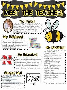 Meet the teacher perfect for open house or the first days of school completely editable bee for Meet the teacher editable template