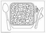 Cheese Mac Coloring Drawing Macaroni Bowl Template Sketch Drawings Swiss Paintingvalley sketch template