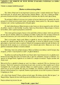 Teste Pisa Evaluare Nationala Limba Romana Clasa 4