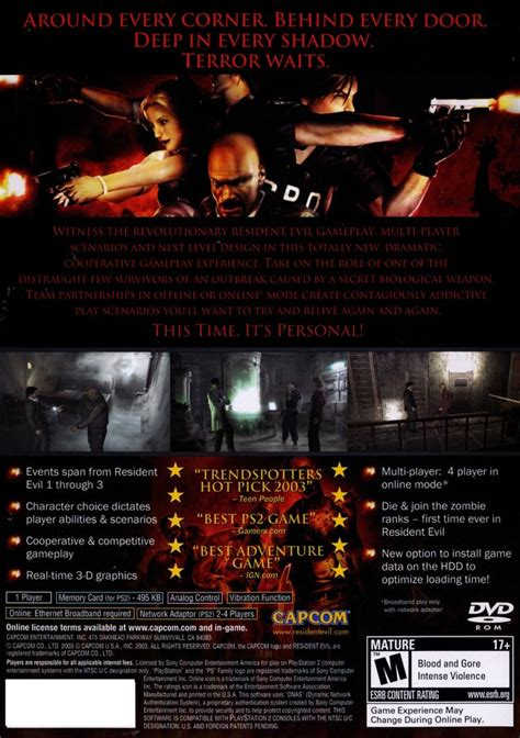 resident evil outbreak sony playstation  game