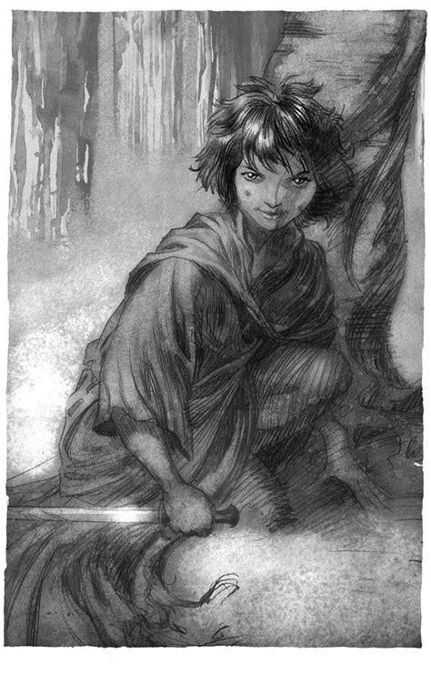 Arya Illustrations for the spanish edition of A song of Ice and Fire, concretely the artbook El