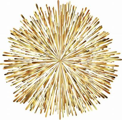 Fireworks Background Clipart Transparent Firework Gold Prismatic