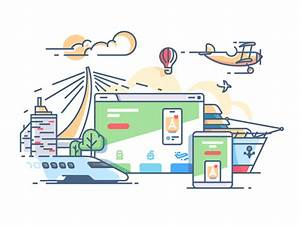 Travel agency web site illustration