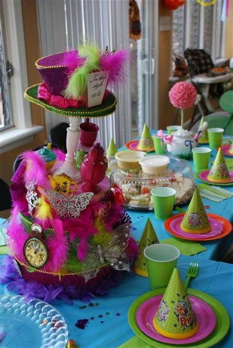 alice and wonderland table decorations fun table decor at an alice in wonderland birthday party