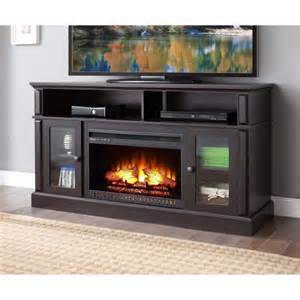 White Storage Cabinets Walmart by Whalen Barston Media Fireplace Tv Stand On Sale Just 279