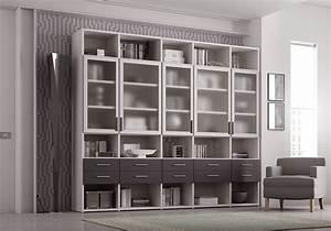 Bibliothèque Avec Porte : biblioth que design avec portes vitr es moretti compact so nuit ~ Teatrodelosmanantiales.com Idées de Décoration