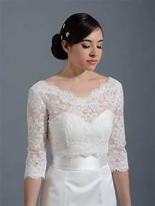 Make any dress long sleeve and pretty v neck alencon lace for Bolero for wedding dress
