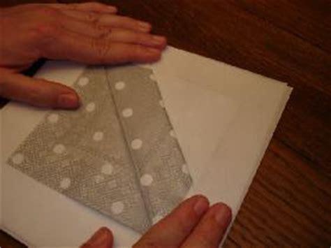 pliage serviette porte menu portefeuille bicolore dresser la table