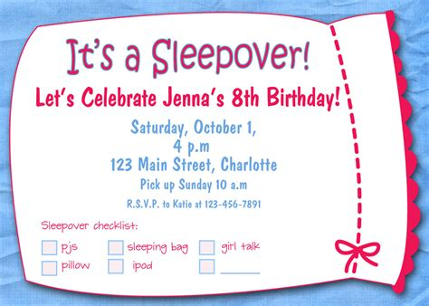 Slumber party girls birthday printable by TheButterflyPress
