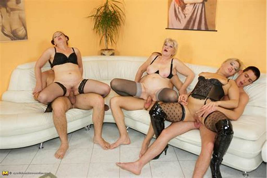#Orgy #Moms #In #Stockings #And #Lingerie #Getting #Drilled #And