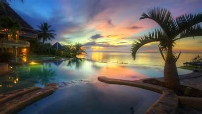 Philippines Wallpapers Resort Tropical Sunset Beaches Beach