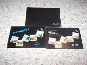 1999 Chevy Prizm Sedan Owner Owner U0026 39 S Manual User Guide Set