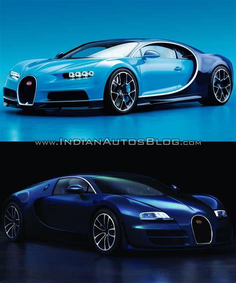 Bugatti Vs by Bugatti Chiron Vs Bugatti Veyron Front Three Quarters