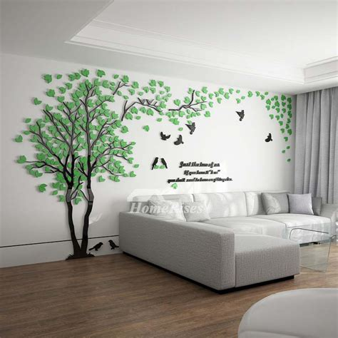 living room wall decals tree wall decal 3d living room green yellow acrylic best