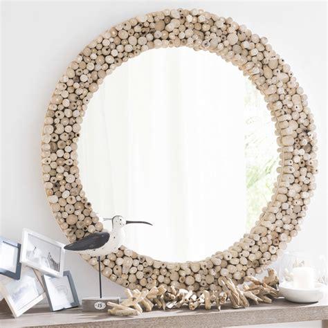 Grand Miroir Rond Miroir Rond En Teck D 100 Cm Jakarta Maisons Du Monde