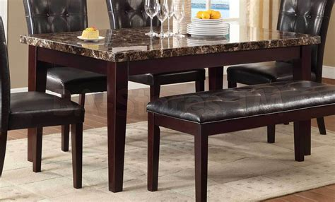 SALE: $378.00 Teague Dining Table   Faux Marble Top   Dining tables HE 2544 64/5   NYC Bed