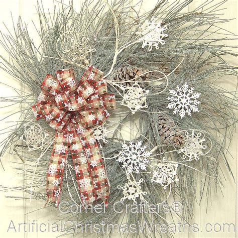 winter snowflake wreath artificialchristmaswreathscom