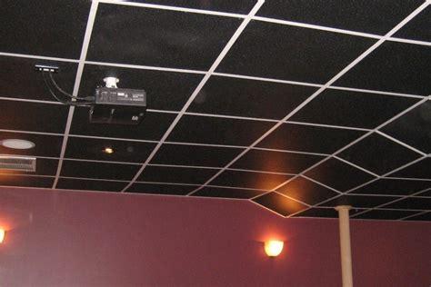 black ceiling tiles intersource specialties