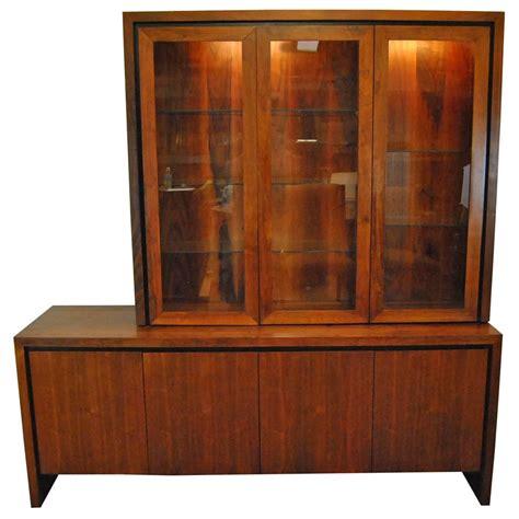 modern buffets and china cabinets mid century danish modern two pc teak buffet china display