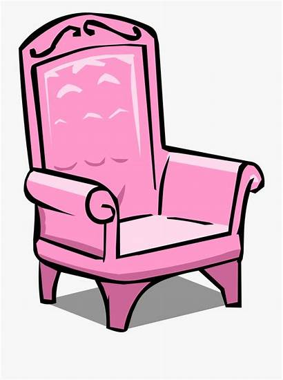 Chair Clipart Princess Throne Cartoon Pink Clipground