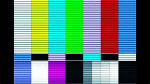 TV Color Bar Distortion Test - YouTube