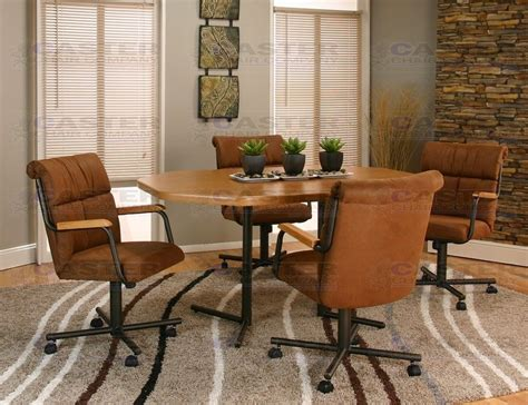 caster chair company 5 caster dining set with swivel
