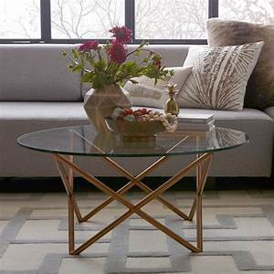 Metal spindle coffee table west elm for West elm geometric coffee table