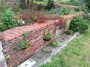 trockenmauer aus den alten ziegeln nach einem jahr aus With amenagement de jardin en pente 6 gartenanlage am hang