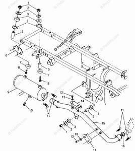 Polaris Atv 1997 Oem Parts Diagram For Exhaust System