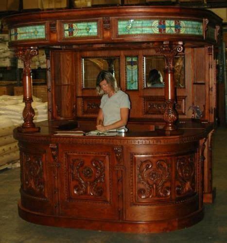 Back Bar Furniture by Antique Oak Covered Home Back Bar
