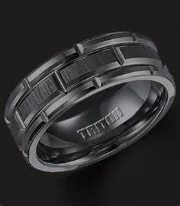 black mens wedding bands classic mens tungsten wedding bands wedding and bridal inspiration galleries