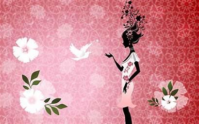 Wallpapers Feminine Background Computer Getwallpapers Girly Bird