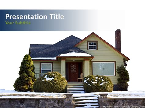 winter house powerpoint template