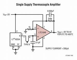K Thermocouple Schematic
