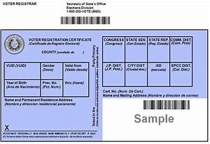 New Voter Registration Certificates to be Mailed December ...