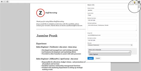 Linkedin Resume Extractor by Resume Extractor Source Candidates Instantly 171 Zoho