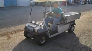 Club Car Carryall 2 48v Electric Golf Cart W   Utility Bed Sold